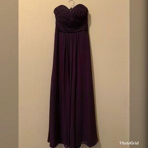 Eggplant Purple Sweetheart Top Dress